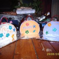 Mom's Purses made these for mothers day..my step son helped and made one for his mom