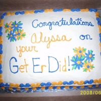 Aly Grad Cake graduation cake for the girl up the road..