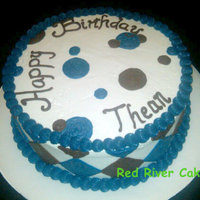 Diamond Birthday   Blueberry cake with Strawberry icing. I love this cake! I did not love the icing! lol