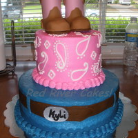 Cowgirl Birthday  This cake was perfect for my 'lil girl's 1st birthday! Gumpast boots (I love them!) and belt buckle and fondant belt, the rest is...