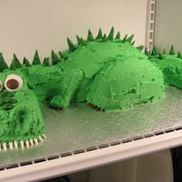 Dragon/dinosaur This cake is designed after tripletmom's 3D Dinosaur cake. Her cake is fabulous! Also, thanks to Sweet Dreams by Tracy for her...