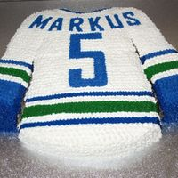Hockey Jersey Made this for my nephew's 5th bday. Thank you hockeymom for the inspiration!
