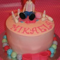 Bowling Cake This was a cake collaboration with my friend 'oldred55' for her granddaughters 7th birthday. It was my first attempt at making a...