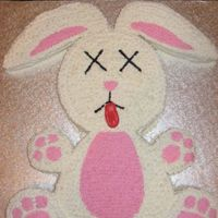 Dead Bunny Long story! Made for friends 40th bday. I tried to make it as cutesy as possible!