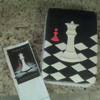 Breaking Dawn - Book Cover Cake My friend wanted her teenaged daughters cake to be themed after a new book that was coming out soon that she was wanting. Black satin ice w...