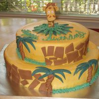 Giraffe Cake I took some ideas from a few cakes here on CC to create this giraffe themed cake.