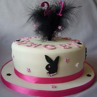 21St 'playboy' Cake I made this cake for a Customers daughter, she is mad about 'Playboy'!