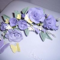 Lilac Roses & Butterflies