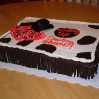 Cowboy Theme Baby Shower Cake