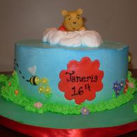 Winnie The Pooh Cake Although the cake was for an 16th year old, I am posting it here since I believe the design to be more appropriate for a Baby Shower. (Try...