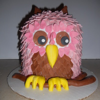 Whootie Owl A friend seen this cake on here and wanted one like it. I did my best (not as good as the original) but turned out ok.
