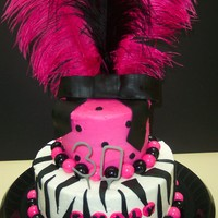 Thirty, Flirty And Fabulous   All Chocolate cake with buttercream Icing with fondant accents, gumballs.