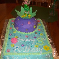 Tinkerbell Fondant Flowers and leaves with buttercream icing