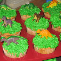 Dinosaur Cupcakes Dinosaur cupcakes I made for my sons class to celebrate his birthday.
