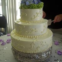 Wedding Cake This is the 2nd wedding cake I have done. Butter cake with IMB Icing.