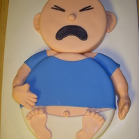 "Screaming Baby Boy 6"" & 10"" one layers all covered in fondant"