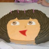 Dora This is the Dora cake that went along with my backpack cake.