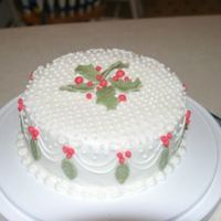 Christmas Frosted with bc and made holly with fondant.