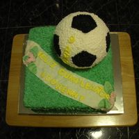 Soccer Birthday Cake Chocolate Cake 10 ""