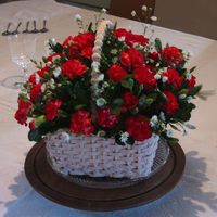 Flower Basket BC basket weave. Fresh flowers per clients request.
