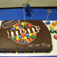 M & M Cake I made this for my sisters 40th birthday! She has always loved m&ms and always gets those huge bags of m&ms for holidays! It was a...