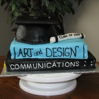 "Book Cake   This was my first ""book"" cake and it was much harder than what I thought it would be! It was fun to try though!"