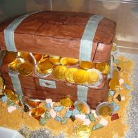 "Treasure Chest 2nd treasure chest. This one made for my daughter's kindergarten class for their ""pirate party""."
