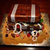Treasure Chest My son's face was worth the effort! This cake was my first treasure chest for his 4th birthday.