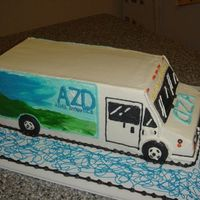 Azure Dynamics Truck Cake I took a new job and am bringing in this cake. It's a replica (or best that I could do) of one of the vehicles they do (they make...