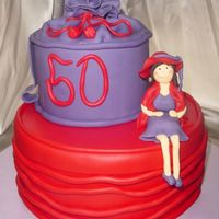 50Th Birthday - Red Hat Society CSM: Purple and Red hat boxes to represent the colors of the Red Hat Society. If you are not familiar with the Red Hat Society, you can...
