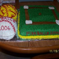 Softball_Cake.jpg For my daughters softball party. This was my first cake