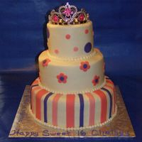 Sweet 16 Birthday Cake I was given a picture as inspiration for this cake, but do not know who the decorator was.