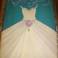 Wedding Dress Birthday Cake My first attempt at a wedding dress cake. It was made for a birthday for a girl who loves to sketch wedding dresses. Inspired by Divaricks...