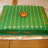Powell Panthers Football Field Cake