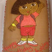 Dora Dora the Explorer. I got her skin tone a little too dark and should have added a bit more orange.