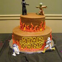 Star Wars Cake This cake is my version of a Star Wars cake found here on cake central, thank you to the original creator!