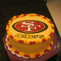 49Ers Strawberry Cake