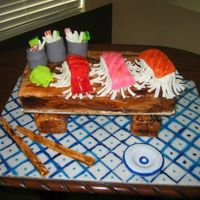 Sushi Cake my son LOVES Sushi so I made this banana cake for him on his 19th birthday.I had to remind my son, this is a cake which means it cant just...