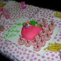 Strawberry Shortcake ~ Strawberry Cake And Cupcakes  This is only the 2nd cake I've made. I looked high & low and found this strawberry mold on the internet. You could also use a...