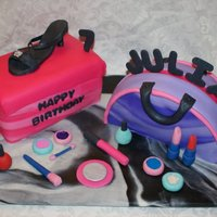 Glamor Girl Party (Shoe, Purse & Make Up!) This is definitely my favorite cake so far. I am so happy with how it turned out, it was for my daughter's 7th birthday, she had a...