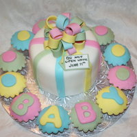Baby Shower  Baby Shower Cake & Cupcakes - This cake was lots of fun to make, I don't often get cupcake orders!! This cake was to celebrate two...