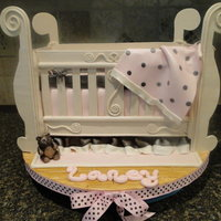 Crib For Baby My first crib cake! I love how we learn so much with our firsts! Always looking to improve right? Fondant covered. TFL
