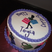 "Fashionista Shopaholic  A perfect cake for a shopper. Had only one day notice for this! The cake was an 8"" vanilla butter cake with strawberry filling. All of..."
