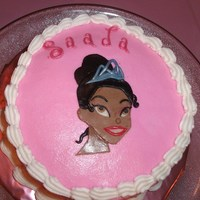 Princess Tiana Birthday Cake This cake was for my daughter's 4th birthday and I had to make a special cake... a Princess Tiana cake. This cake was small... only 6&...