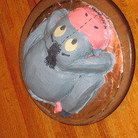 Eeyore Cake This is my first carved cake, made for my husband's birthday. WASC cake. Frosted in BC.