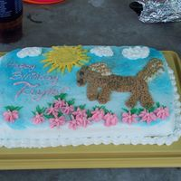 Horse Birthday Cake I used all buttercream, with spray paint for the blue sky.