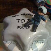 San Francisco Police Dept. Retirement Cake SFPD Motorcycle Police Seargent retirement.