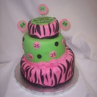 Pink Zebra Cake  I've seen a few cakes with zebra stripes & so I thought I would give it a try. I made this cake for my friends 26th birthday over...