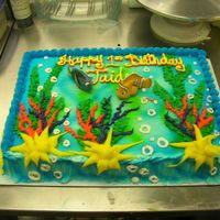Nemo & Dory Standard Bakery Sheet Cake with Nemo & Dory. This was my first time to make one like this. I was in a time crunch, and can see where I...