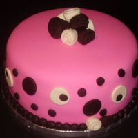 My Pink Passion Took this into work for my coworkers ...It is devil's food cake with vanilla buttercream ...